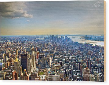 New York City - Manhattan Wood Print