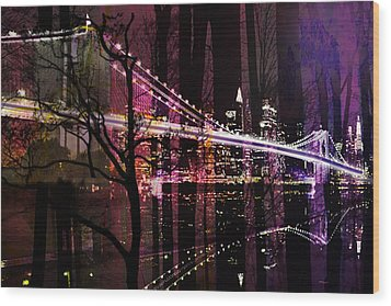 New York City Wood Print by Christine Mayfield