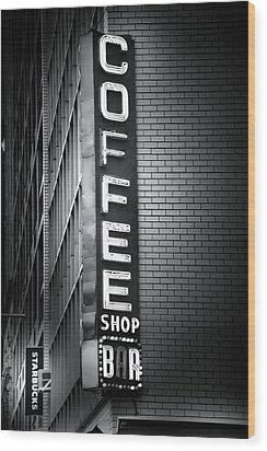 New York City Coffee House Wood Print