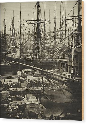 New York City Docks - 1800s Wood Print by Paul W Faust -  Impressions of Light