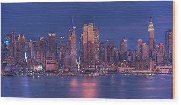 New York City Wood Print by Kirit Prajapati