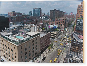 New York City Meat Packing District Wood Print