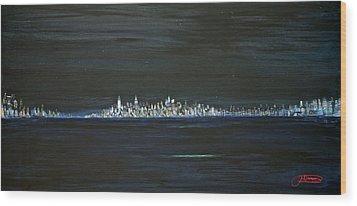 New York City Nights Wood Print