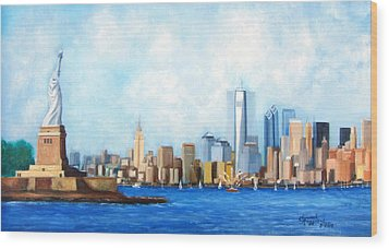 New York City Rebirth Wood Print