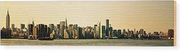 New York City Skyline Panorama Wood Print by Vivienne Gucwa