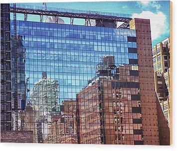 New York City Skyscraper Art 4 Wood Print by Judi Saunders