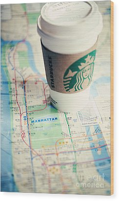 New York City Subway Map Wood Print