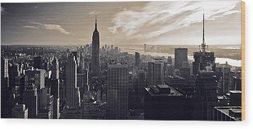 New York Wood Print by Dave Bowman