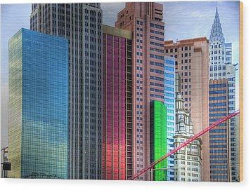 New York-new York - Las Vegas Wood Print by Neil Doren