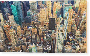 New York, New York Wood Print