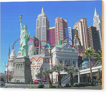 Wood Print featuring the photograph New York New York by Randy Rosenberger