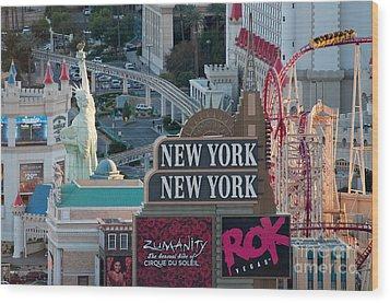 New York New York Strip Wood Print by Andy Smy