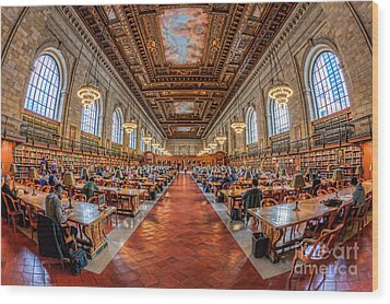 New York Public Library Main Reading Room I Wood Print