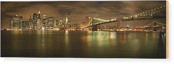 New York Skyline Wood Print by Shubhra Pandit