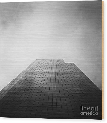 New York Skyscraper Wood Print by John Farnan