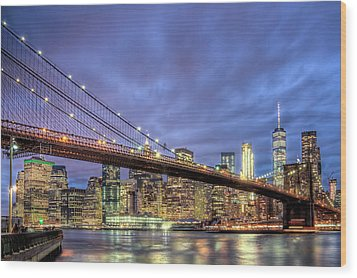 New York Spirit Wood Print by Zev Steinhardt