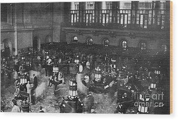 New York Stock Exchange Wood Print by Granger