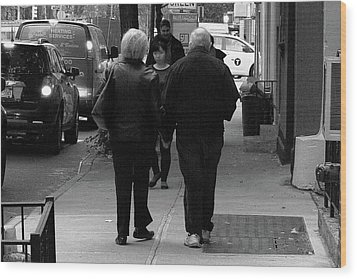 Wood Print featuring the photograph New York Street Photography 75 by Frank Romeo