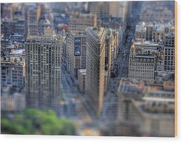 New York Toy Story - Flatiron Building Wood Print by Don Mennig