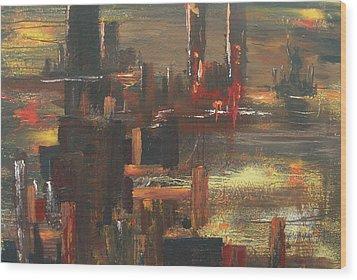 New York Tragedy Wood Print by Miroslaw  Chelchowski