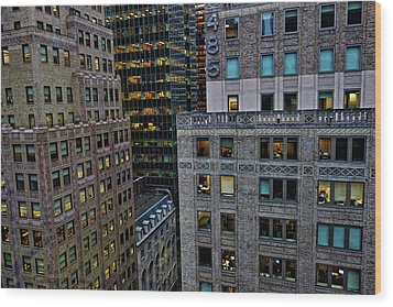 New York Windows Wood Print