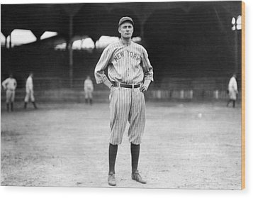 New York Yankee Wally Pipp, C. 1917 Wood Print by Everett