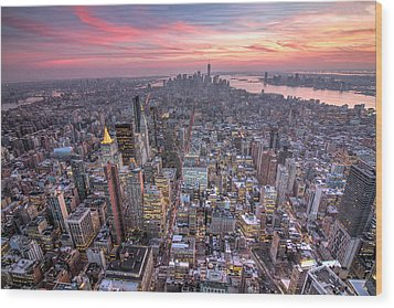 New York Wood Print by Zev Steinhardt