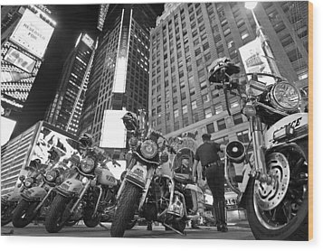 New York's Finest Wood Print by Robert Lacy