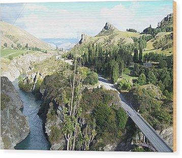 New Zealand Scene Wood Print by Constance DRESCHER