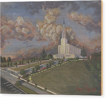 New Zealand Temple Wood Print by Jeff Brimley