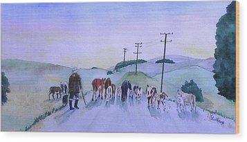 New Zealand Traffic Jam Wood Print by Christine Lathrop