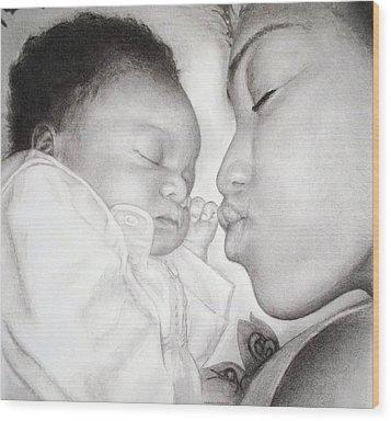 Newborn Wood Print by Melodye Whitaker