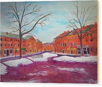 Newburyport Ma In Winter Wood Print