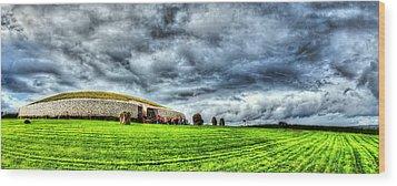 Newgrange's Rolling Thunder Wood Print by Kim Shatwell-Irishphotographer