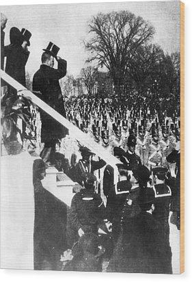 Newly Inaugurated President Of The U.s Wood Print by Everett