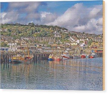 Newlyn Harbour Cornwall 2 Wood Print