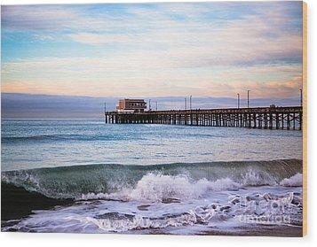 Newport Beach Ca Pier At Sunrise Wood Print by Paul Velgos