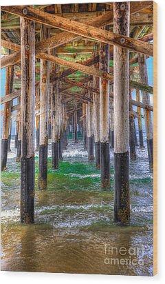 Wood Print featuring the photograph Newport Beach Pier - Summertime by Jim Carrell