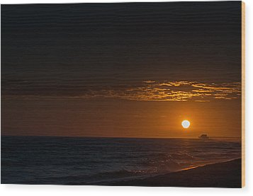 Newport Beach Sunset Wood Print