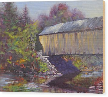 Newport Covered Bridge Wood Print