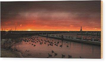 Newport Geese Wood Print