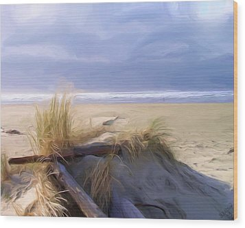 Newport Oregon Summer Beach Wood Print