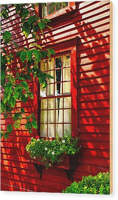 Newport Window Wood Print by Rick Bragan