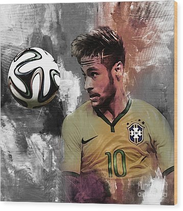 Neymar 051a Wood Print by Gull G
