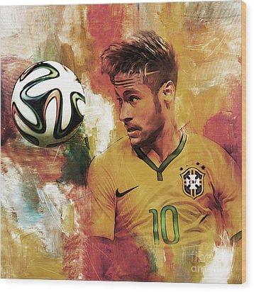 Neymar 05d Wood Print