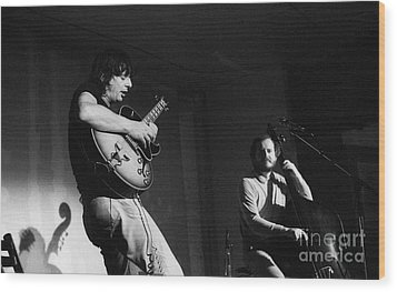 Nhop And Philip Catherine On Stage Wood Print by Philippe Taka