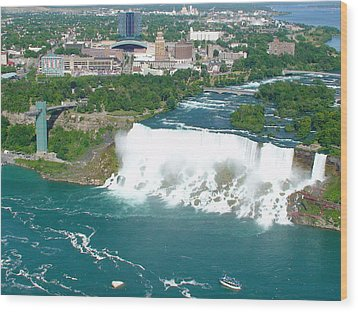 Wood Print featuring the photograph Niagara American And Bridal Veil Falls  by Charles Kraus