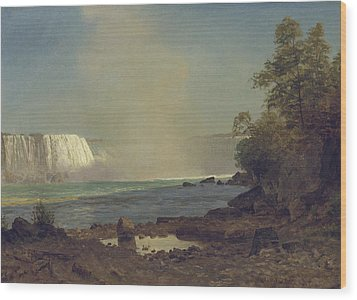 Niagara Falls Wood Print by Albert Bierstadt
