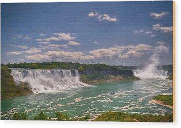 Fall In Niagara Falls Wood Print