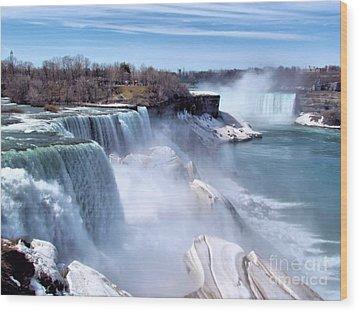 Niagara Falls Wood Print by Elizabeth Dow